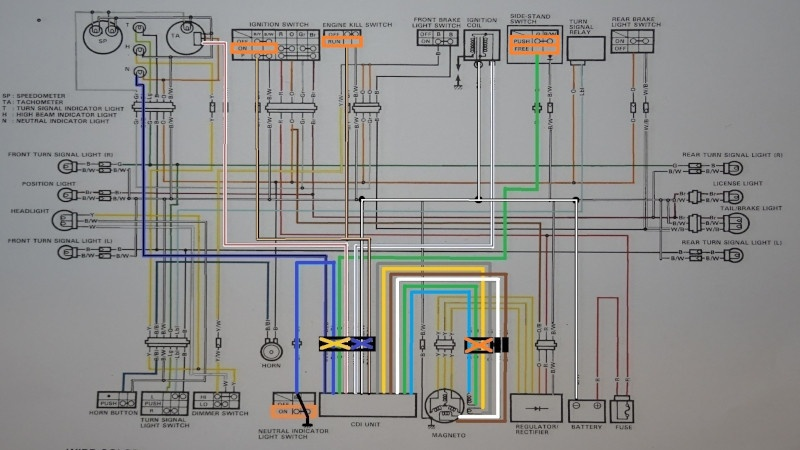 CDI unit on the DR350S wiring diagram
