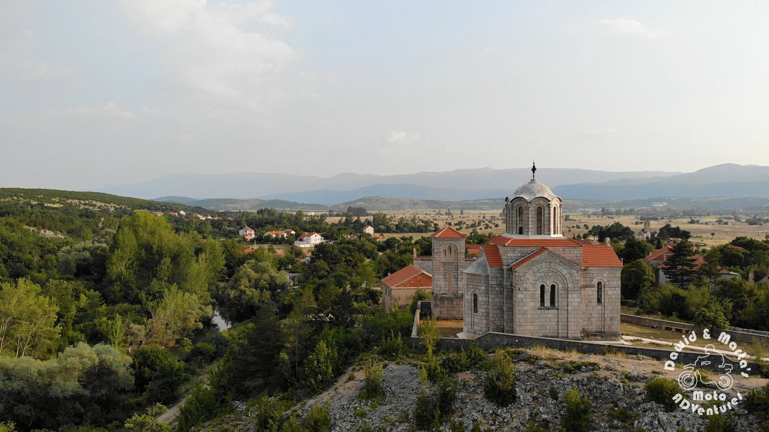 The orthodox church at the Cetina Rivers spring, inland Croatia