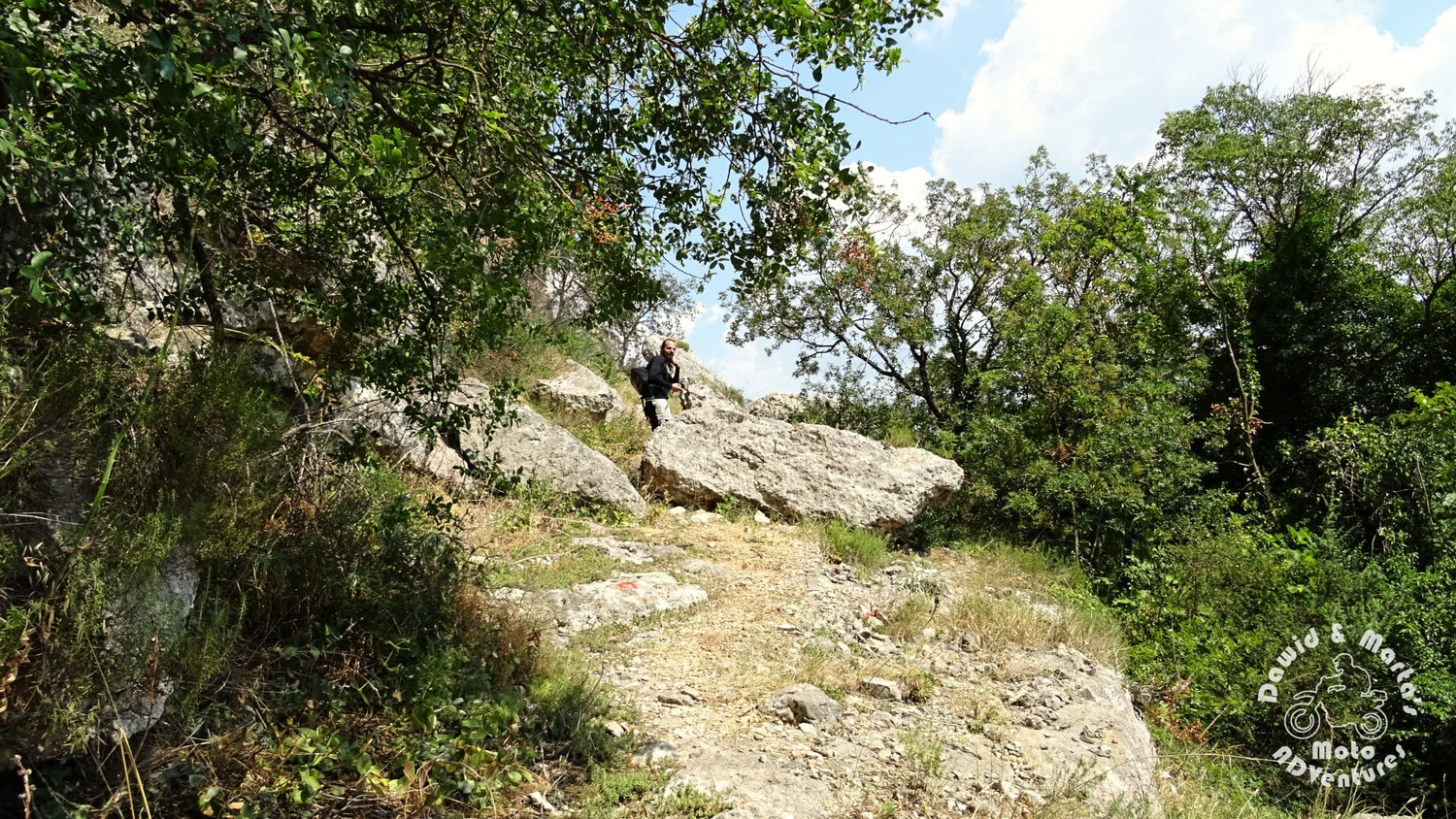 Climbing trail at the Krk National Park