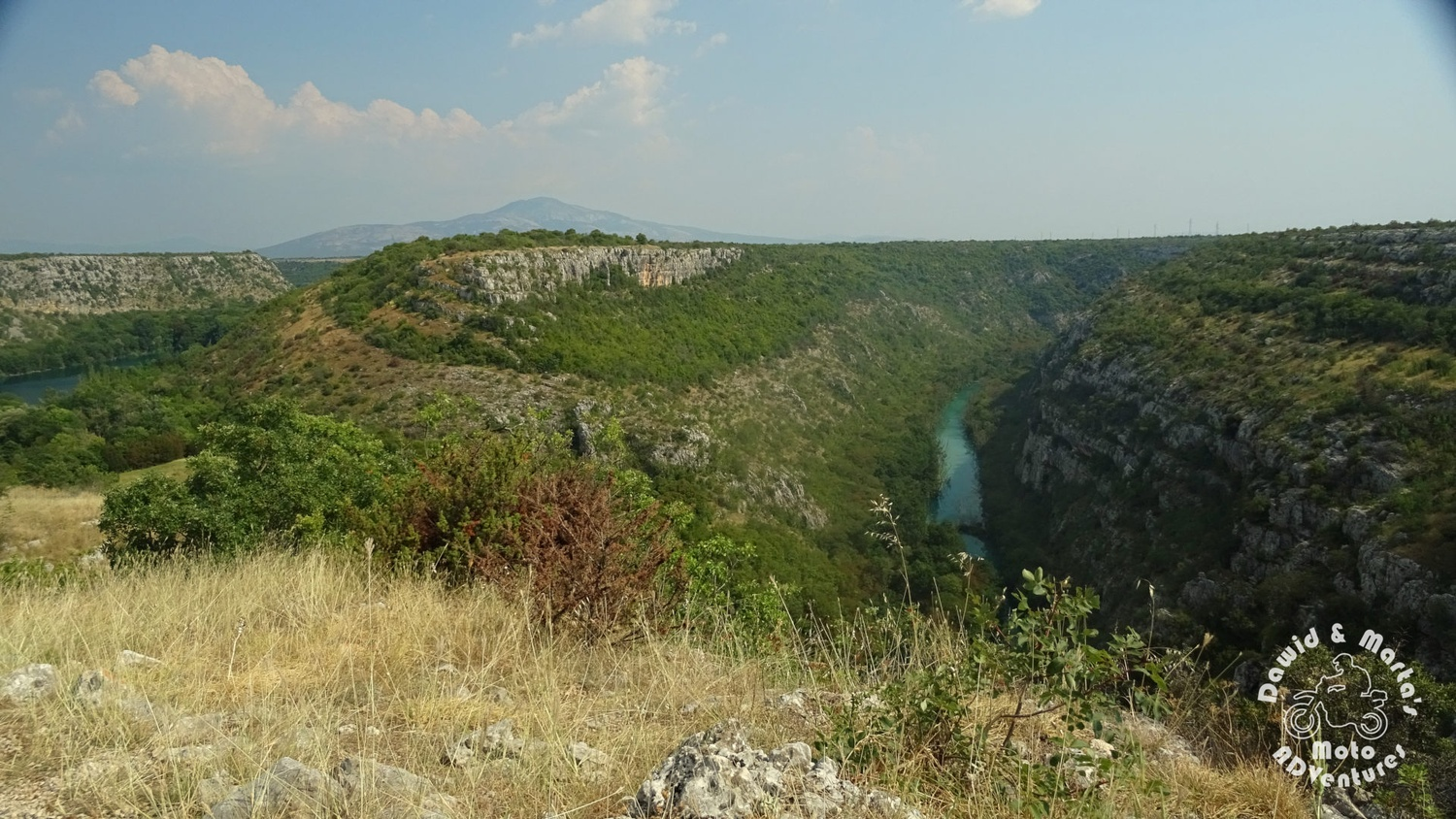 The Krk River canyon