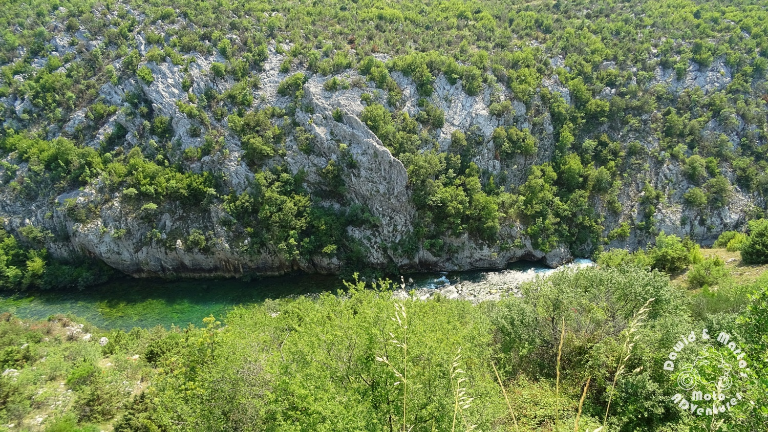 The Cetina River canyon bottom