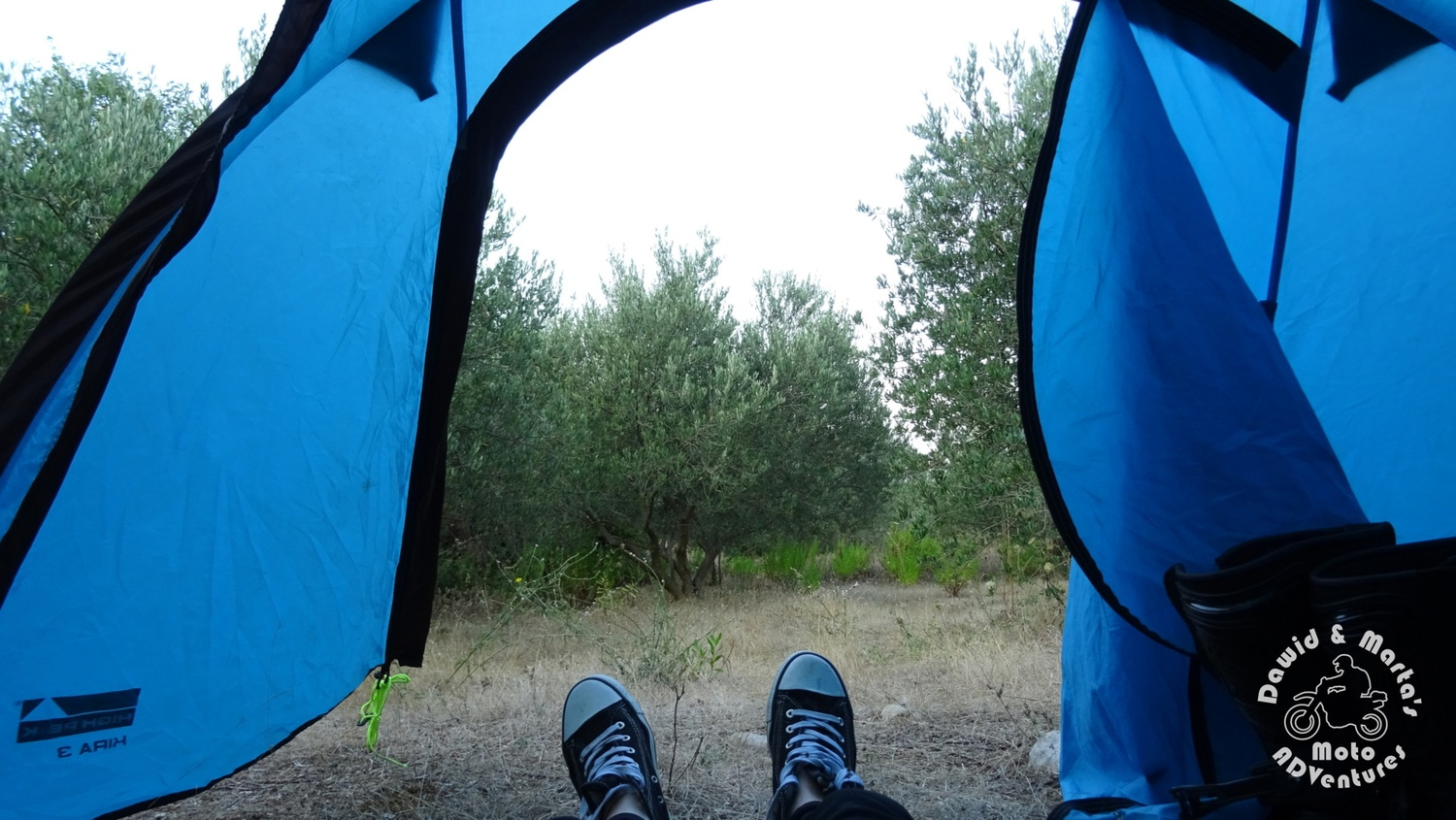 Wild camping near Croatian Raba, around the Neretva River wetlands