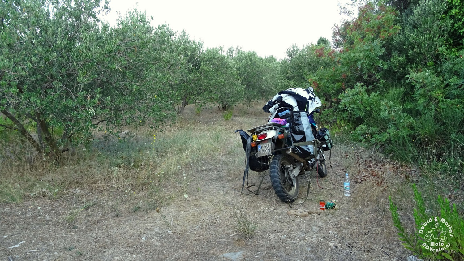 Africa Twin with luggage