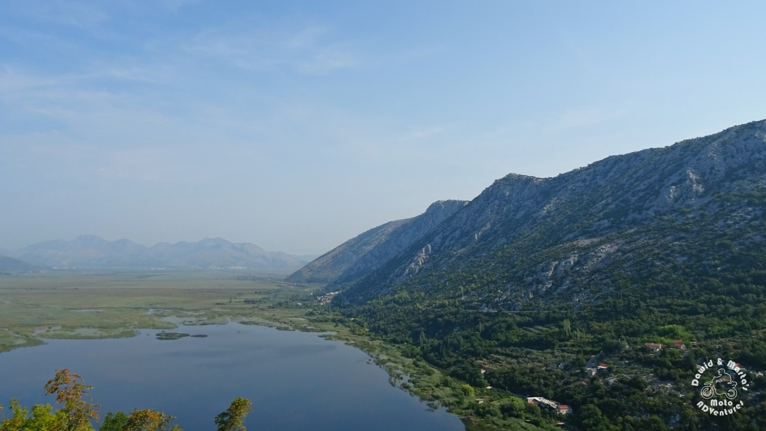 The Kuti Lake seen from the roadbetween Zavala and border between Croatia and Bosnia