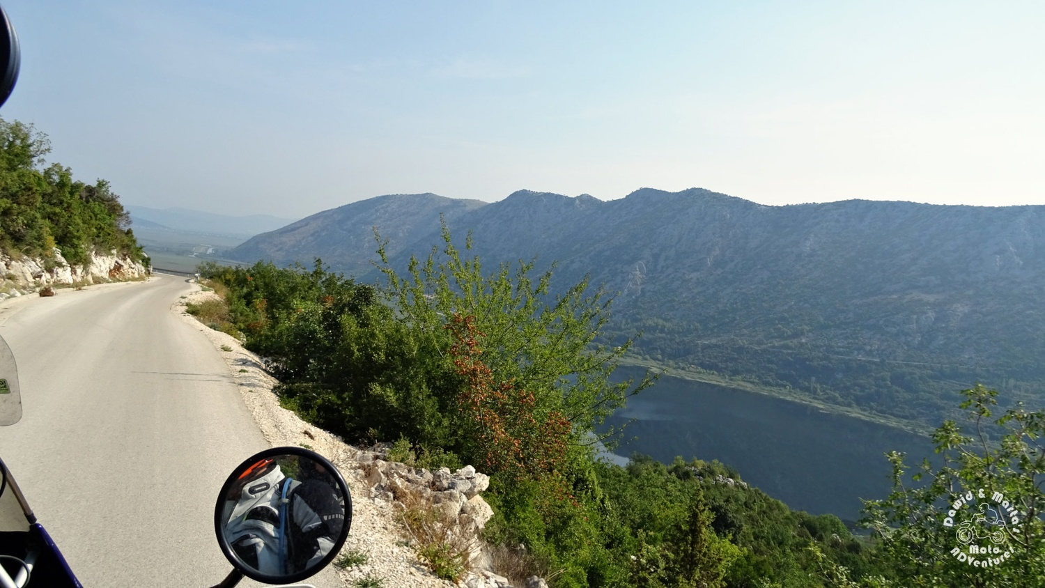 Road from Croatia and Bosnia border crossing to Zavala around the Kuti Lake