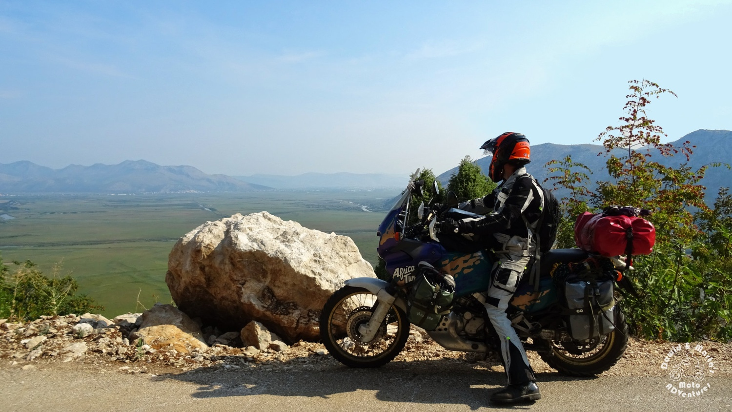 Africa Twin at the Kuti Lake, Croatia