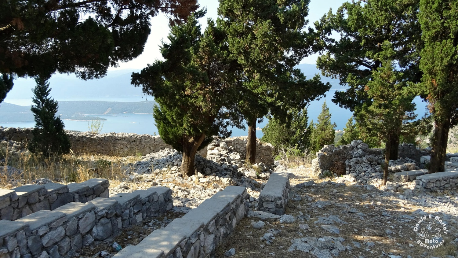 The Smrdan Grad lookout point on the Adriatic Sea