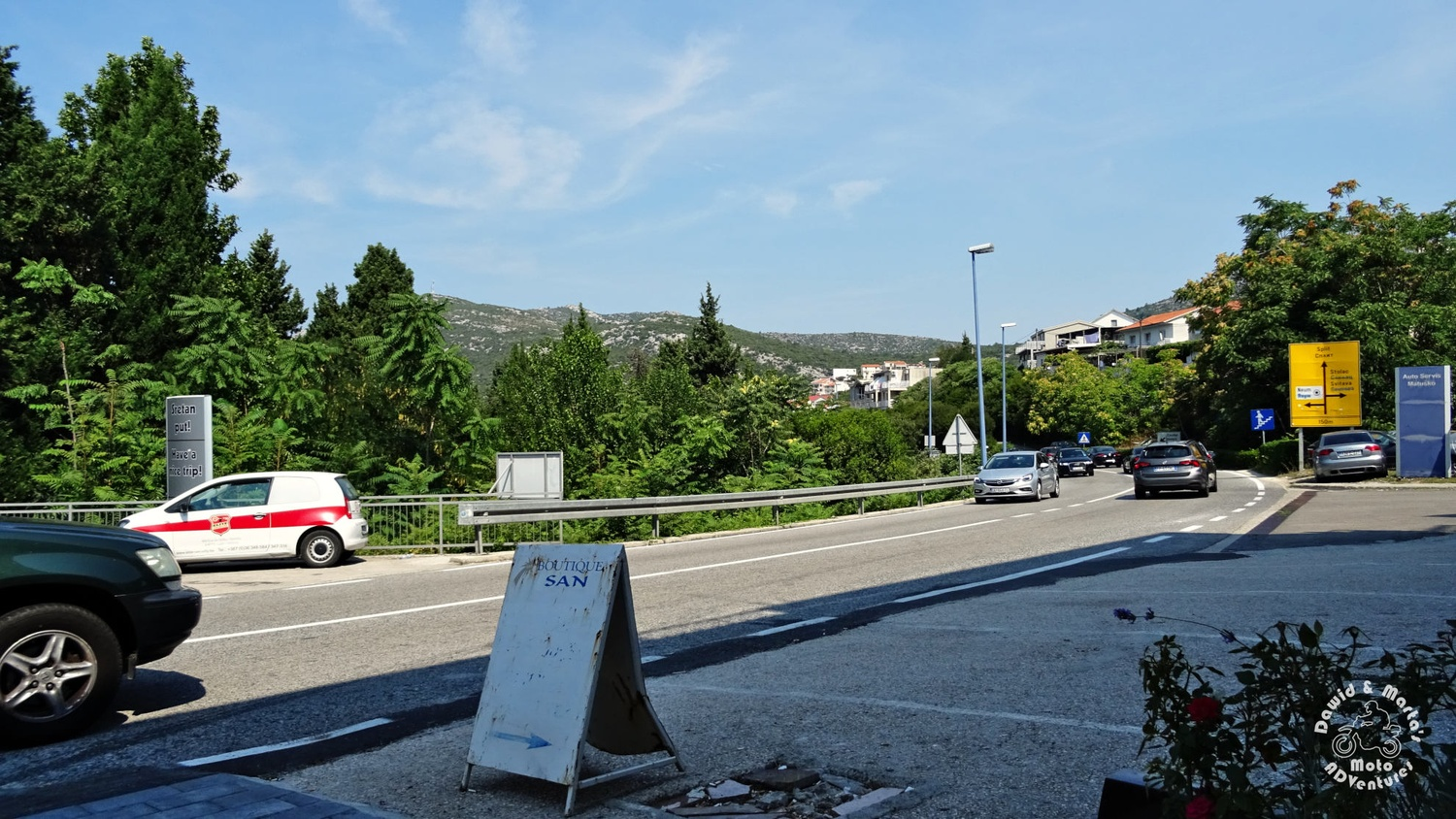 Adriatic Highway in Neum