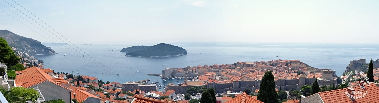 Dubrovnik Old Town and Lokrum Island seen from the Adriatic Highway