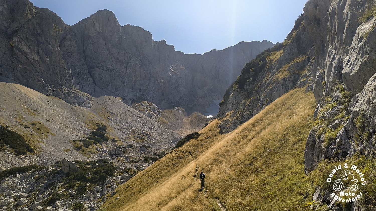 Crossing to Durmitor's Previje pass to Velika Kalica valley