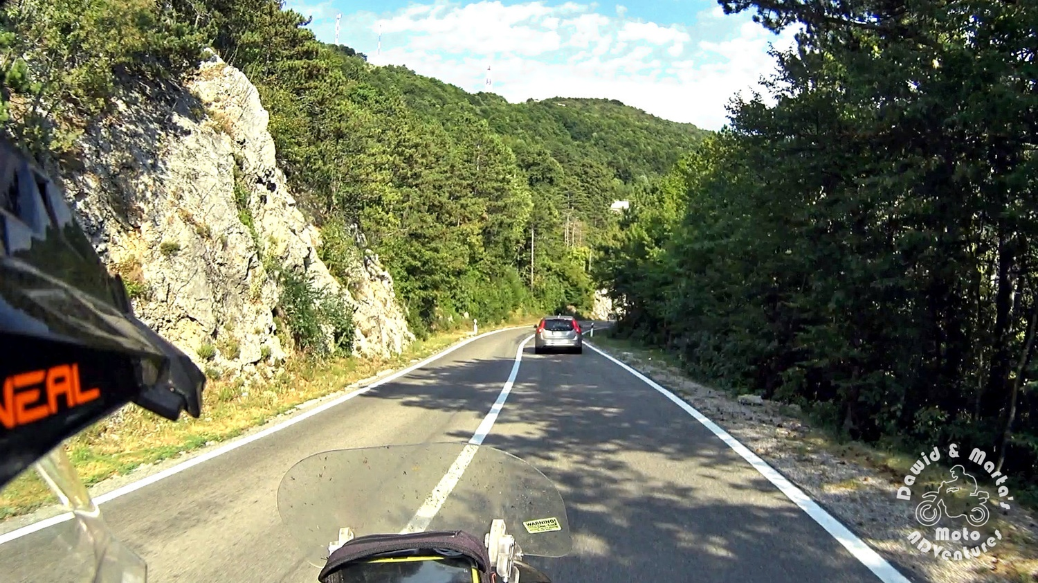 The Croatia road 23 is tightly surrounded by forests and mountains