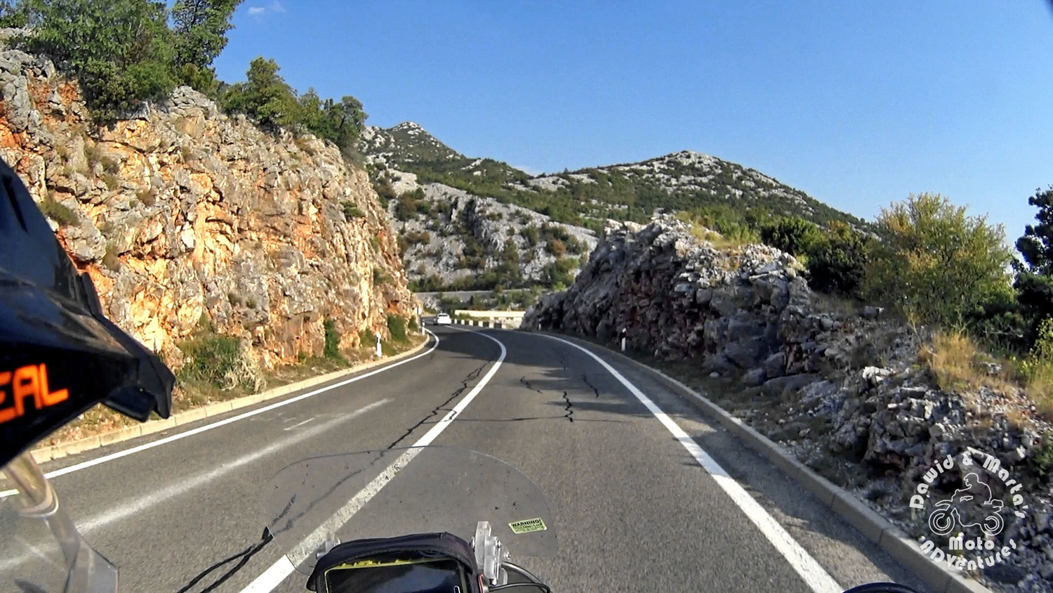 The Adriatic Highway sometimes leaves the sea coastline and meanders between the mountains