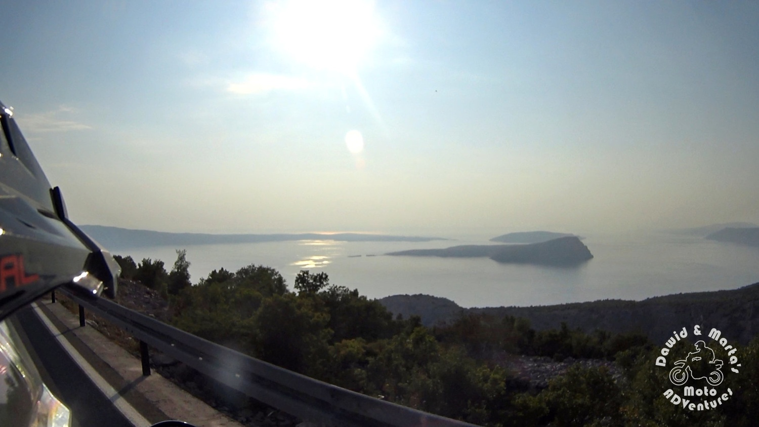 View from the Adriatic Highway on the Adriatic Sea