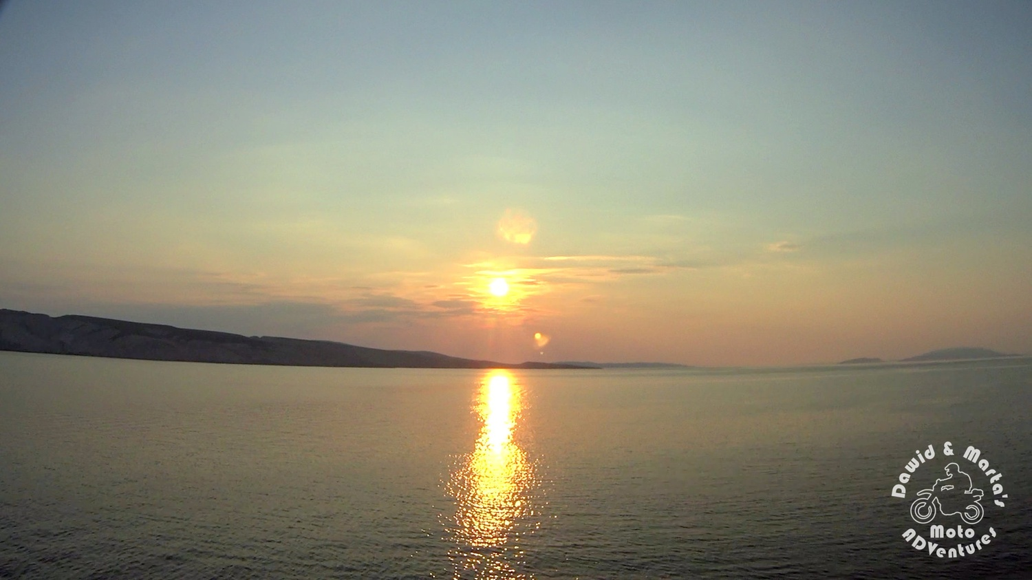 Sunset over the Adriatic Sea seen from the ferry crusing to the Pag Island.jpg
