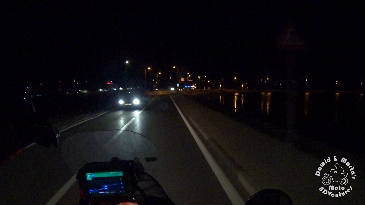 Riding the Pag Island by night