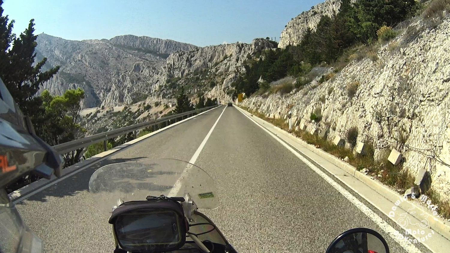 Riding down the Cesta Domovinskog Rata in Croatia to Adriatic Highway