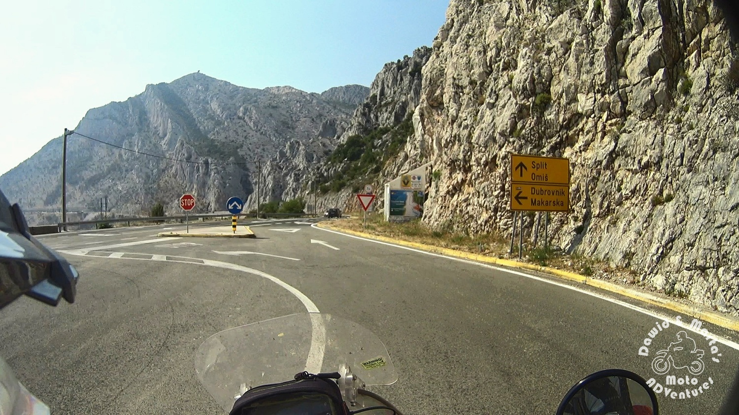Riding down the Cesta Domovinskog Rata in Croatia Nature Park Bikovo to Adriatic Highway