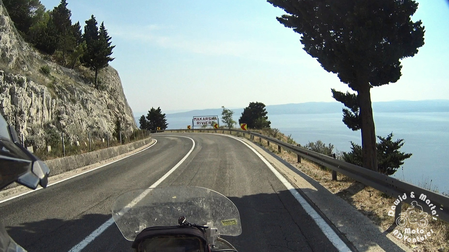 Makarska riviera sign at the Adriatic Highway