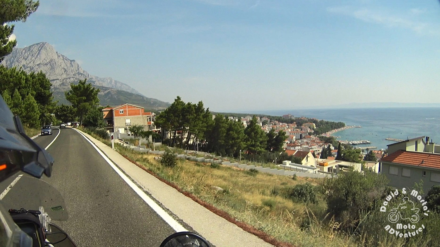 Baska Voda seen from the Adriatic Highway