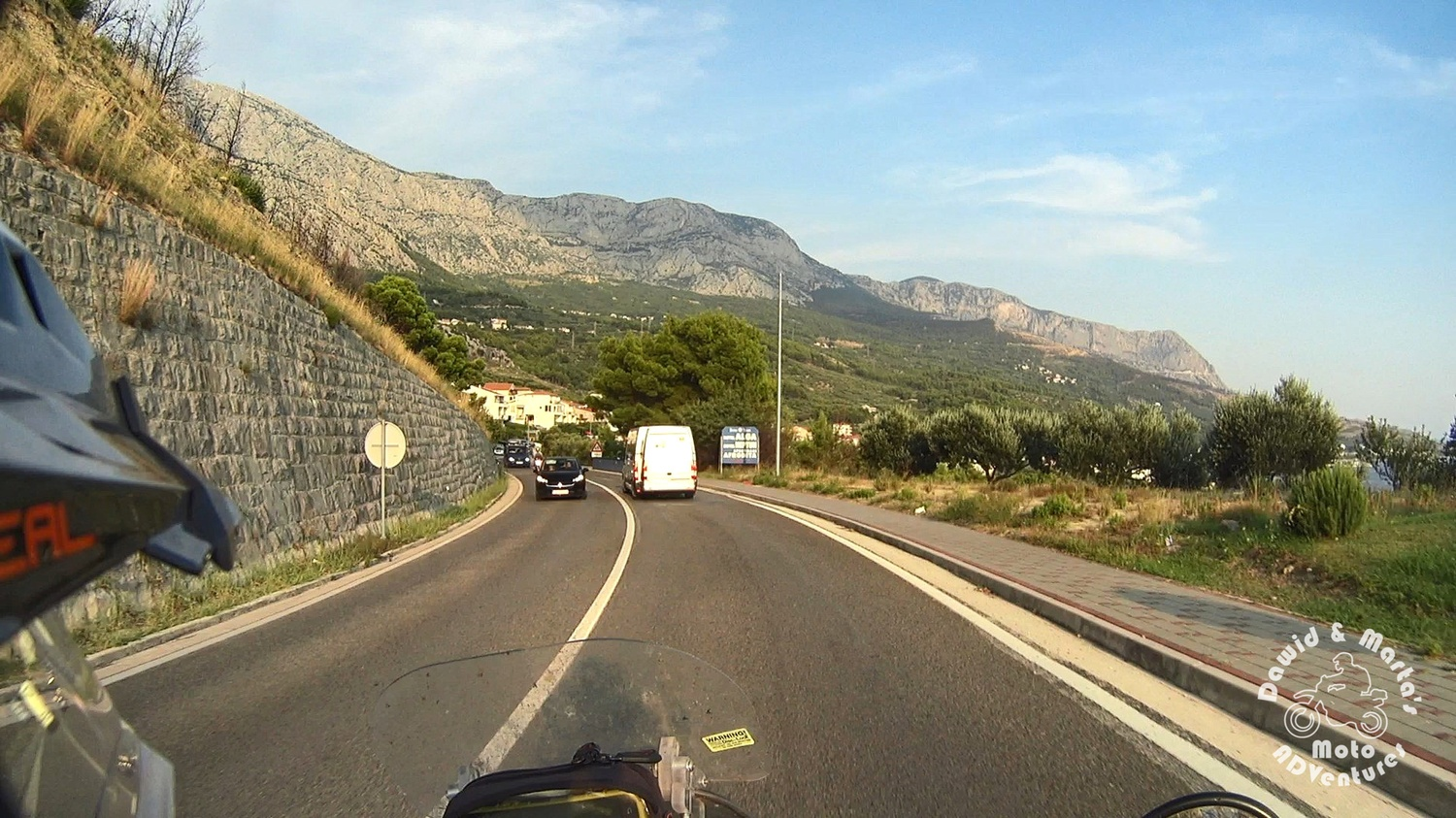 Adriatic Highway between Podgora and Makarska