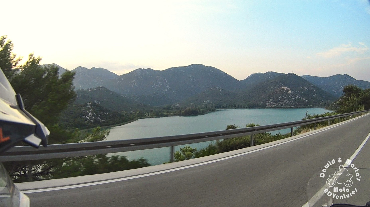 Bacina Lakes seen from the Adriatic Highway, around the Neretva River wetlands