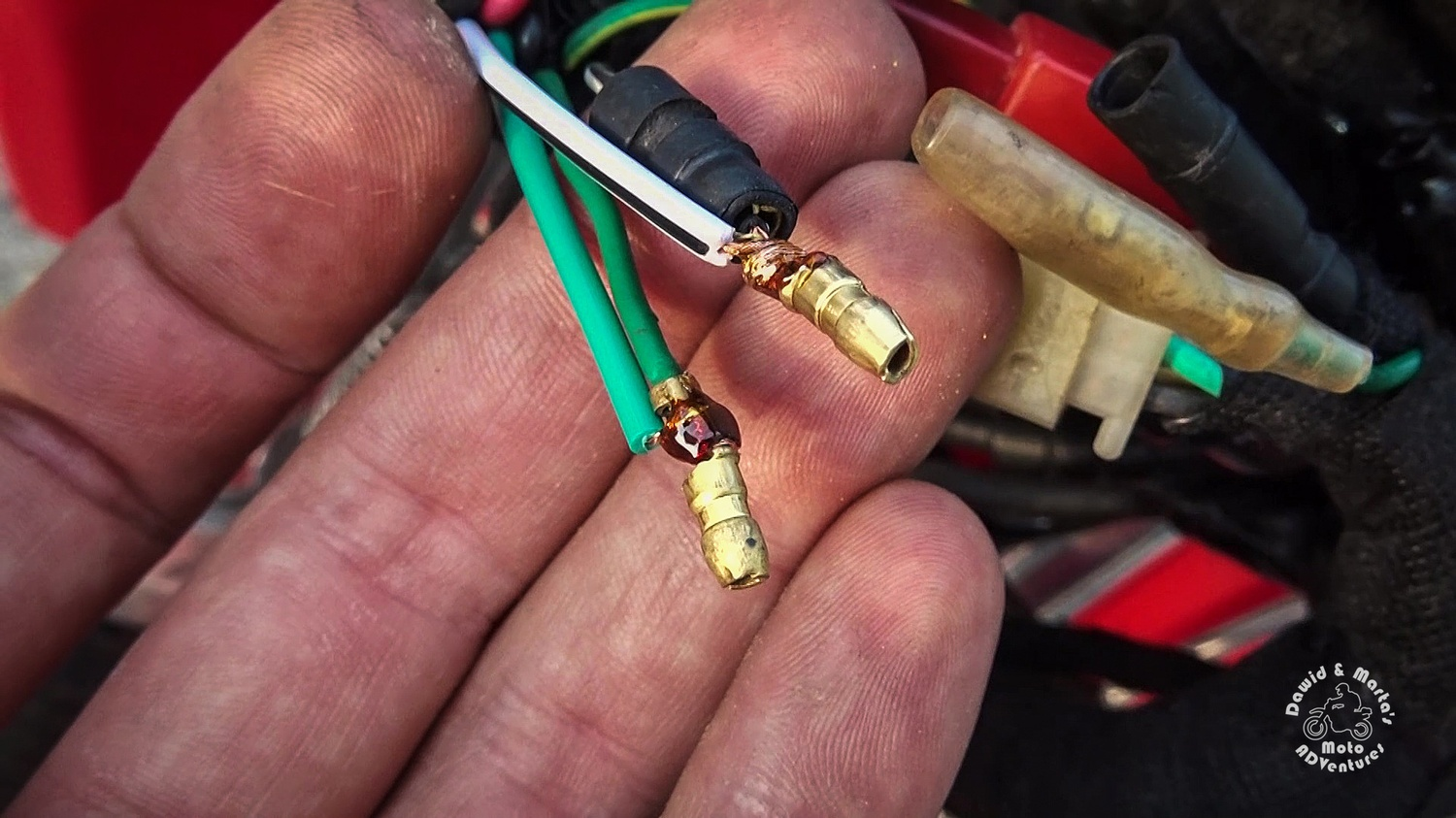 Soldering ignition switch in Honda XR400