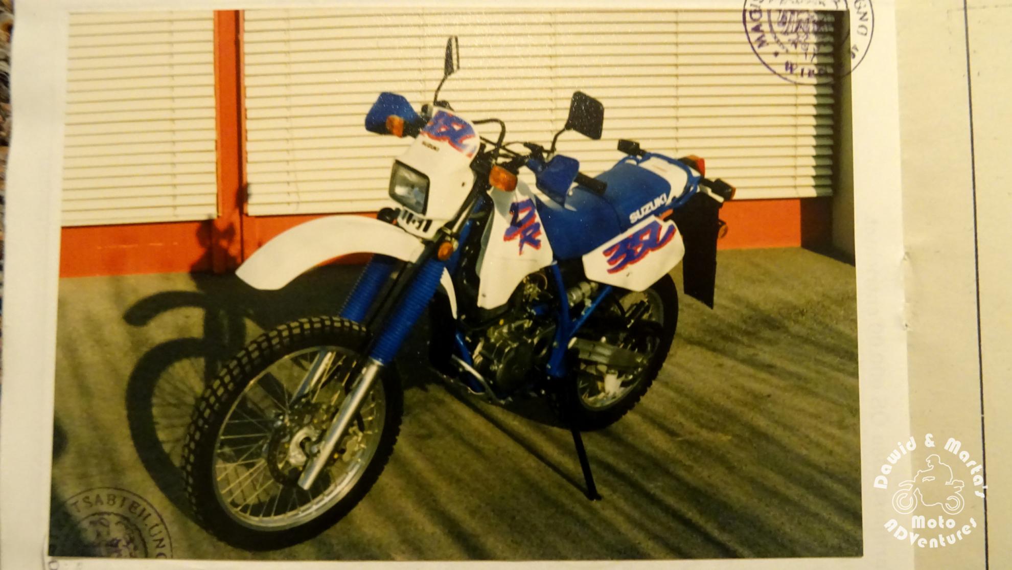 White Suzuki DR 350 from 1993