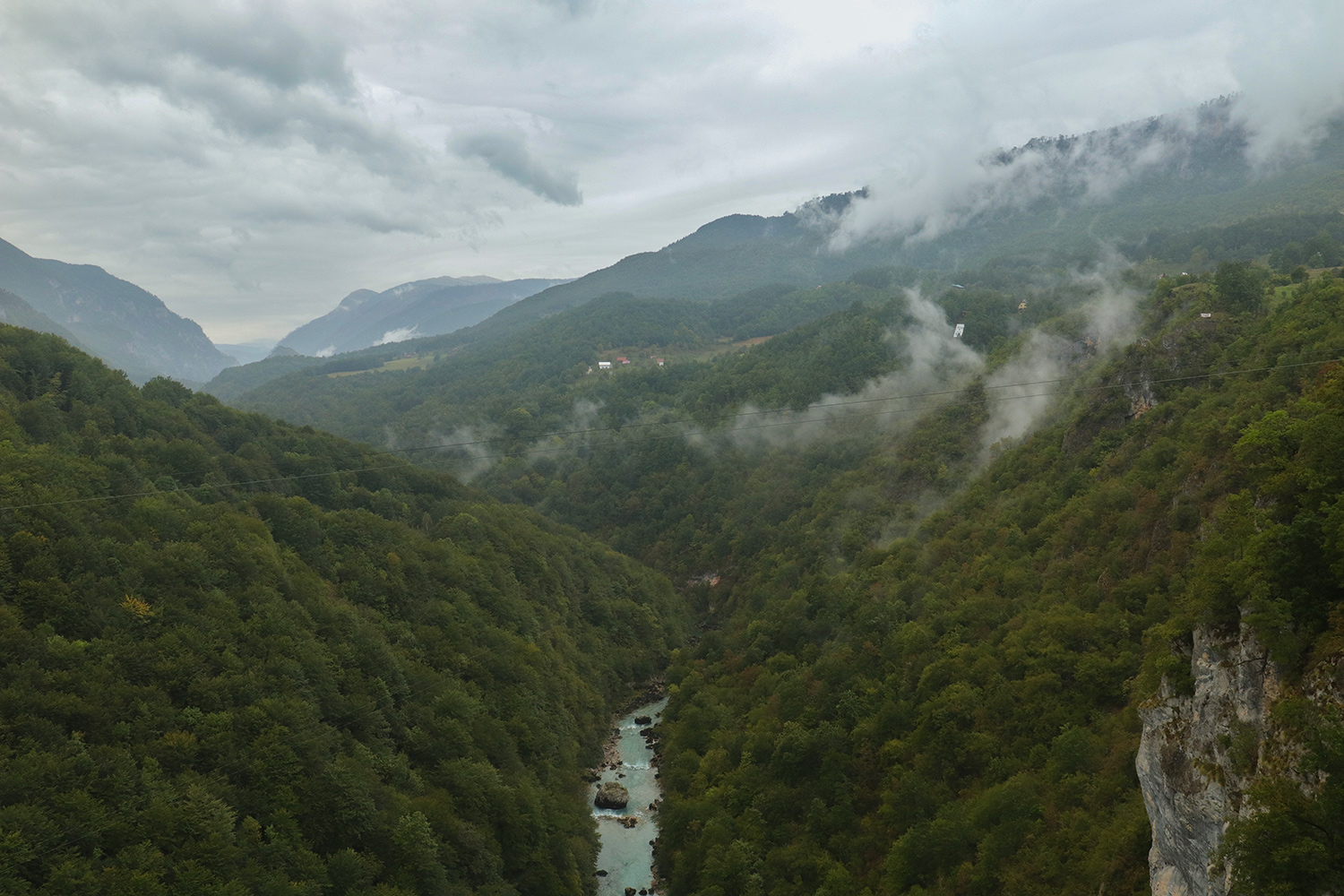 View on Tara River canyon from the Đurđevića Tara Bridge