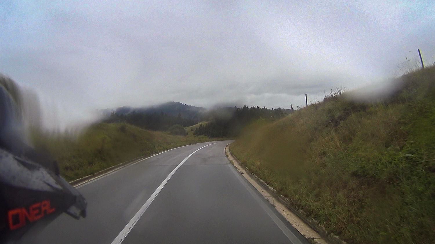 Foggy road P4 from Pljevlja to Zabljak